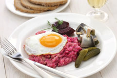 Homemade labskaus, Northern Germany cuisine Royalty Free Stock Photography