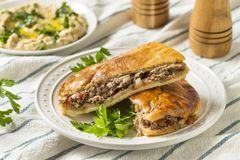 Homemade Lamb and Tomato Arayes Pita Royalty Free Stock Images
