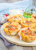 Homemade lasagna cups Royalty Free Stock Photos