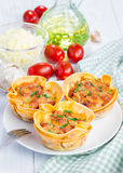 Homemade lasagna cups Stock Images