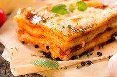 Homemade lasagna Stock Photo