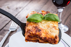 Homemade Lasagne Stock Images