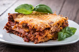 Homemade Lasagne on a plate Royalty Free Stock Photo