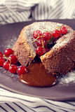 Homemade lava cake Royalty Free Stock Images