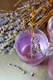 Homemade lavender drink stock photography