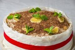 Homemade layer cake Royalty Free Stock Photos