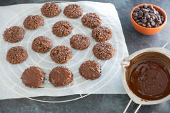 Homemade Lebkuchen on Cooling Rack Stock Photography