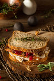Homemade Leftover Thanksgiving Sandwich Royalty Free Stock Photography