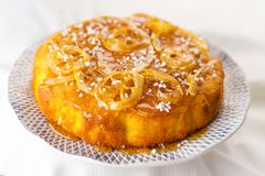 Homemade lemon cake Stock Photos