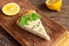 Homemade lemon cheesecake Royalty Free Stock Photos