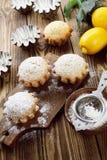 Homemade lemon cupcake Stock Photos