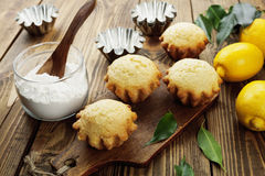Homemade lemon cupcake Stock Images
