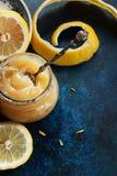 Homemade lemon curd Stock Photography