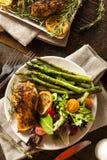 Homemade Lemon and Herb Chicken Stock Photos