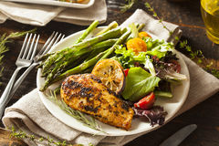 Homemade Lemon and Herb Chicken royalty free stock images