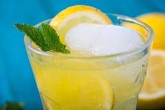 Homemade lemon lemonade with fresh mint Royalty Free Stock Photo