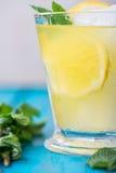 Homemade lemon lemonade with fresh mint Stock Photos