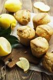 Homemade lemon muffins Stock Photos
