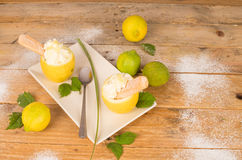 Homemade lemon sorbet Stock Photography