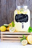 Homemade lemonade in beverage dispencer Stock Image