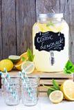 Homemade lemonade in beverage dispencer Stock Images