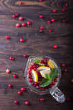 Homemade lemonade with cranberry and mint Royalty Free Stock Photos