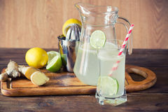Homemade lemonade with ginger Royalty Free Stock Images