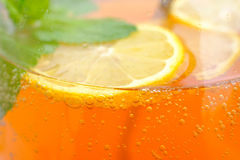 Homemade lemonade in the glass Royalty Free Stock Photos