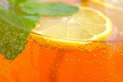 Homemade lemonade in the glass Stock Image