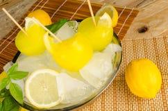 Homemade lemonade ice pops Royalty Free Stock Images