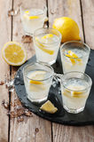 Homemade lemonade with lemon and ice Royalty Free Stock Images