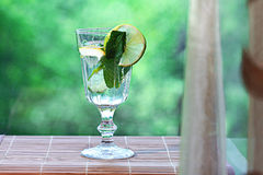 Homemade lemonade lemon mint ice Stock Photography