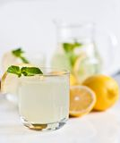 Homemade lemonade with mint Stock Photo