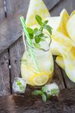 Homemade lemonade with mint leaves Royalty Free Stock Photo