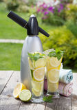 Homemade lemonade and siphon Stock Photo