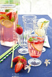 Homemade Lemonade with strawberries Royalty Free Stock Image