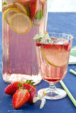 Homemade Lemonade with strawberries Royalty Free Stock Images