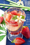 Homemade Lemonade with strawberries Stock Photography