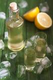 Homemade lemonchelo Royalty Free Stock Images