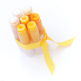 Homemade lip balm Stock Images