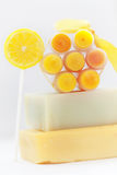 Homemade lip balm Stock Photo