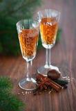 Homemade liqueur stock photography