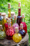 Homemade liqueur with alcohol and fruits Royalty Free Stock Photography