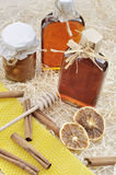 Homemade liqueur with spices Royalty Free Stock Photography