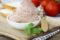 Homemade  liver appetizer pate Stock Photo