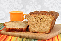 A homemade loaf of honey quinoa bread. Royalty Free Stock Images