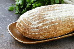 Homemade loaf of rye bread Stock Photos