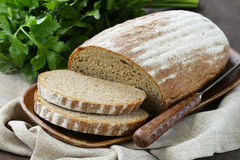 Homemade loaf of rye bread Stock Images