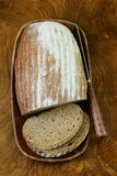 Homemade loaf of rye bread Stock Photography