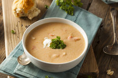 Homemade Lobster Bisque Soup Stock Photography